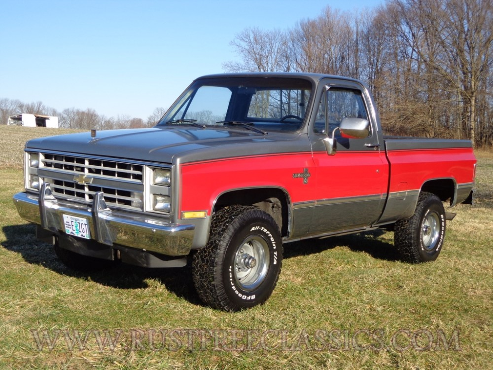 medium resolution of 87 v10 k10 1 2 ton short bed swb silverado fuel injected 4x4 1987 chevy red silver